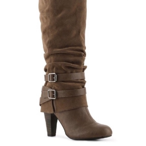 Fergalicious Shoes - Fergalicious Cassidy Army Brown Mid High Boots